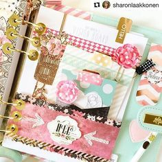 Working on a new dashboard for November in my Julie Nutting planner! Created pockets and elements with Rossibelle papers and Love Faith Scrap stickers, page markers, and tabs! Love how it's turning out! by Sharon Laakkonen  #mpp #myprimaplanner #julienutting #plannergirl #planners #planneraddict #dashboards #november