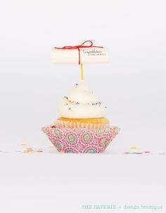Mini Diploma Cupcake Toppers
