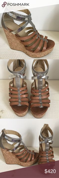 Jimmy Choo wedges Runs small, barely ever worn, really comfortable Jimmy Choo Shoes Wedges