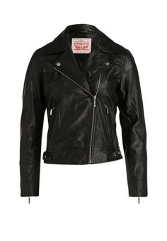 Ein unverzichtbares Style-Essential für trendsichere, coole und hochwertige  Looks  die kurze Bikerjacke des Denim-Kultlabels aus weichem Ziegenleder,  ... 315d41a606