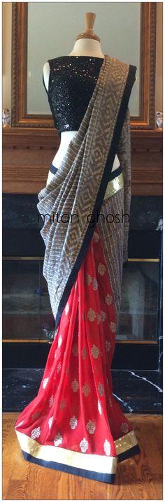 Batik printed saree.