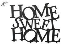 Home Sweet Home - wieszak na ubrania / dekoracja #wieszak #ubrania #dekoracje #design #pomysł #prezent #gift #funny #dom #wnętrza #wystrojwnetrz #inspiration #home #sweet #black #czarny #poland #hanger #welcome #straszy Sweet Home, Poland, Funny, Hanger, Gift, Inspiration, Home Decor, Black, Design