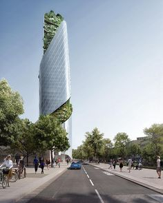 Occitanie Tower: high-rise premiere in Toulouse, France - THE Stylemate Innovative Architecture, Chinese Architecture, Modern Architecture House, Futuristic Architecture, Modern Houses, Toulouse France, Daniel Libeskind, Glass Facades, Santiago Calatrava