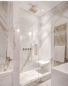 White and gray bathroom - # white - Badgestaltung ideen - Badezimmer Dream Bathrooms, Beautiful Bathrooms, Luxury Bathrooms, Modern Bathrooms, Black Bathrooms, Glamorous Bathroom, Farmhouse Bathrooms, Small Bathrooms, Bathroom Design Luxury