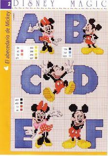 Disney alphabet cross stitch patterns