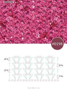 Crochet Shawl Free, Crochet Diagram, Crochet Art, Crochet Flowers, Crochet Stitches For Beginners, Crochet Stitches Patterns, Stitch Patterns, Patron Crochet, Crochet Clothes