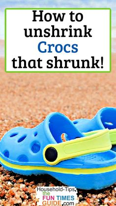 Wondering how to fix Crocs that shrunk? I've got the DIY hack you're looking for! See how to stretch Crocs that shrunk in the hot sun. #shoes #beach #summer