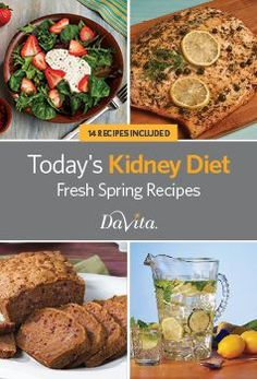 Free Kidney-and Diabetes-Friendly Cookbook Collections Davita Recipes, Kidney Recipes, Diet Recipes, Healthy Recipes, Healthy Foods, Healthy Kidney Diet, Healthy Eating, Kidney Health, Healthy Kidneys
