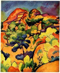 Landscape at La Ciotat  Artista: Georges Braque Tamaño: 72 cm x 59 cm Técnica: Pintura al aceite Fecha de creación: 1907
