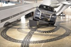 An ambitious new installation entitled 'Rolling Tracks' by leading Brazilian artist Regina Silveira previewed at SP-Arte.