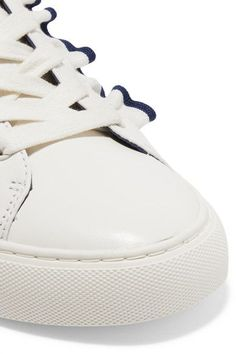 Tory Burch - Ruffled Leather Sneakers - White - US10.5