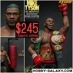 Storm Collectibles Mike Tyson The Undisputed #Heavyweight #Boxing Champion 1/6 Scale Action Figure! $245 + domestic shipping!  Pre-Order at Hobby-Galaxy.com!  #miketyson #ironmiketyson #ironmike #wbc #wba #ibf #actionfigures #actionfigure #onesix #onesixthfigure #onesixscale #onesixthrepublic #hobbygalaxy