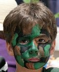 Paint faces, dress up, and send kids on a secret mission. Army Birthday Parties, 7th Birthday Party Ideas, Army's Birthday, Party Themes For Boys, Birthday Cakes, Laser Tag Party, Everybody Dance Now, Army Party, Man Party