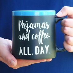 Jumbo Chalkboard Coffee Mug for Coffee Lover by JuliesHeart