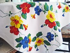 Hey, I found this really awesome Etsy listing at https://www.etsy.com/listing/226453585/vintage-1950s-tablecloth-by-weil-durrse
