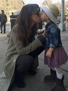 World's Most Beautiful 2016: The Cutest Celebrity Mother-Daughter Pairs on Instagram   HILARIA BALDWIN & CARMEN    In March, Baldwin celebrated International Women's Day with a smooch from her favorite gal.