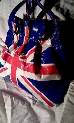 My duct tape bag pinned by someone else. cool! =)    British Flag Large purse - duct tape
