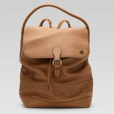 Gucci Backpack With Woven Strap 258648 BXS