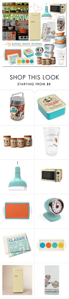 """Lovely Retro Kitchen"" by gangdise ❤ liked on Polyvore featuring interior, interiors, interior design, home, home decor, interior decorating, Pyrex, Picnic Time, Ilomio and Dansk"