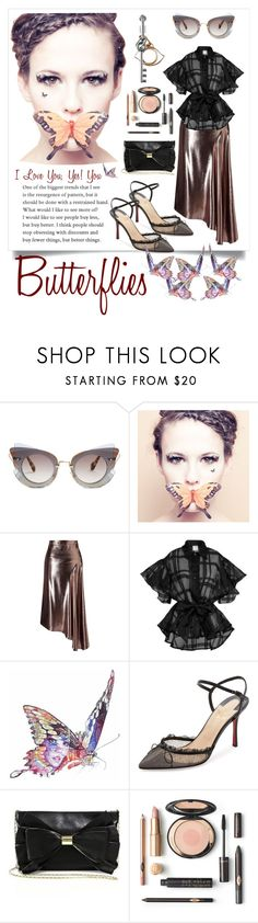"""""""Butterflies 🦋 🦋 🦋"""" by yemmy-made ❤ liked on Polyvore featuring Miu Miu, Paperself, Roland Mouret, Topshop, Jane Lee McCracken, Christian Louboutin and Judith Leiber"""