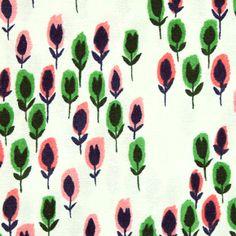 COTTON+STEEL(コットンアンドスティール)「Hatbox 4002-002 Hatbox in Soft Green」の生地通販ページ。「Hatbox 4002-002 Hatbox in Soft Green」は、Green Bee Design のAlexia Marcelle Abeggがデザインした花柄の生地です。ピンクやグリーンの面白い形の花が寄り添うように並んでいます。ランダムな配置で間隔があいたり密集していたりと、その様はまるで小さな森のようです。当店は、海外のかわいい生地・おしゃれなデザインの生地を厳選して販売している輸入生地のオンラインショップです。世界で注目の気鋭デザイナーの生地や話題のファブリックブランドの生地などをいち早く独自輸入しています。布好きな方におすすめの生地店です。