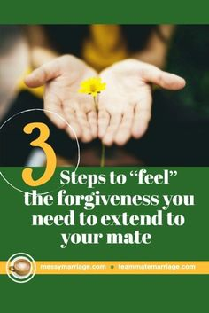 Feeling the Forgiveness. Do you want to know how to feel the forgiveness you need to extend to your mate? Then check out the three step process in this post.