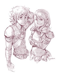 Hiccup and Astrid. :)                                                                                                                                                                                 More