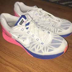 brand new f705f 0c809 Nike Shoes   Nike Lunarglide 6. Womens 7.5!   Color  Pink White   Size  7.5