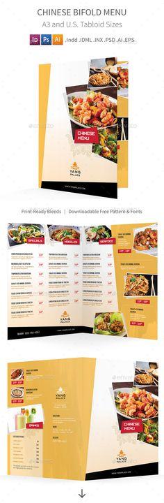 Restaurant Menu Template Food menu, Cafe menu and Restaurants - a la carte menu template