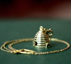 Honey Bumble Bee Hive Locket Necklace by contrary on Etsy Honey Bee Hives, Honey Bees, Bee Jewelry, Gold Jewelry, Jewelry Necklaces, Necklace Ideas, Jewelry Box, Bracelets, I Love Bees