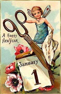 Carte ancienne de bonne année