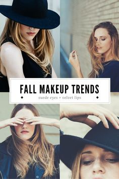 Soft matte lipsand suede eyes are a cozy look for fall.
