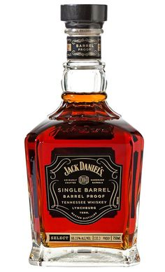 Jack Daniel's Single-Barrel Barrel-Proof Whiskey is one of the best whiskeys of the year and an inductee into the 2015 Whiskey Or Whisky, Good Whiskey, Scotch Whiskey, Jack Daniels Single Barrel, Alcohol Bottles, Liquor Bottles, Vodka, Jack Daniel's Tennessee Whiskey, Alcohol Dispenser