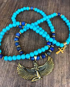 Ankh Necklace, Beaded Necklace, Beaded Bracelets, Necklaces, Beaded Jewelry, Ancient Egyptian Jewelry, Wicca, Yoga Jewelry, How To Make Beads