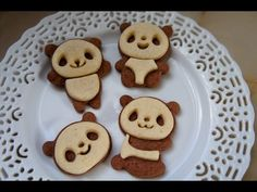 Learn how to make sweet butter and cocoa panda cookies perfect for any occasion on this Emmymade How to on Emmymade in Japan. New videos every Monday, Thursd. Sweet Butter, No Sugar Foods, Holiday Cookies, First Birthdays, Cocoa, Panda, Food And Drink, Sweets, Baking