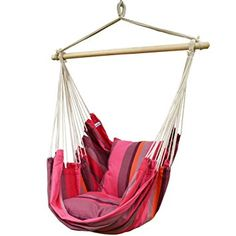 $32 Prime Garden Pink Stripe Soft Comfort Hanging Hammock Chair For Indoor  Outdoor Kids And Adults
