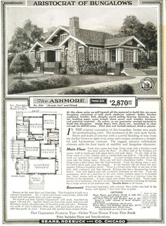 This Arts & Crafts bungalow is the Sears Ashmore and its one of my favorite houses. Its a real beauty of a house, and Ive seen about five in...
