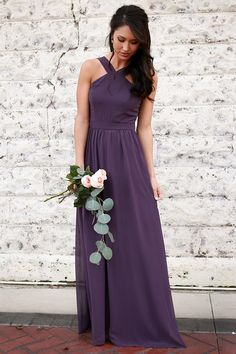 Look no further - the dreamiest dress of the season has arrived! This stunning maxi is the perfect bridesmaid's dress or spring formal attire! This dress features an empire waist and is lined. Dark Purple Dresses, Dress Rings, Bridesmaid Dresses, Wedding Dresses, Style Guides, Spring Fashion, Formal Dresses, Spring Style, Empire