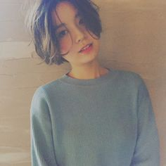 Pin on 試してみたいこと Pin on 試してみたいこと Girl Short Hair, Short Hair Cuts, Cut My Hair, New Hair, Hair Inspo, Hair Inspiration, Korean Short Hair, Shot Hair Styles, Hair Color Dark