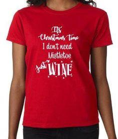 2f355da296 Christmas t-shirt, wine, santa christmas tshirt, t-shirt, santa t-shirt,  funny t-shirt, slogan t-shirt, merry xmas, Red t-shirt, novelty