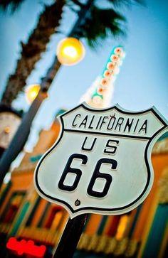 Your Kicks. Route 66 sign along Sunset Boulevard at the Disney-MGM Studios in Walt Disney WorldU. Route 66 sign along Sunset Boulevard at the Disney-MGM Studios in Walt Disney World Santa Monica, West Usa, Route 66 Sign, Route 66 Road Trip, Road Trips, California Dreamin', California Pictures, Disney California, California Camping