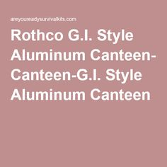 Rothco Stainless Steel Canteen Cup /& Cover Set-Camping Randonnée Survie