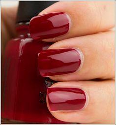 Love how deep red China Glaze Siren looks