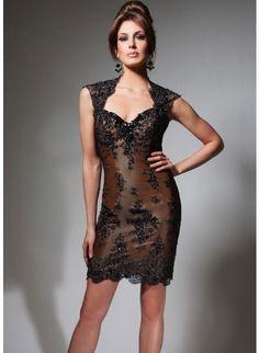 Tony Bowls TS21325 Brown/Black Dress