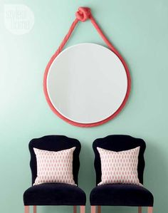 DIY project: Do-it-yourself rope mirror {PHOTO: Ryan Brook/TC Media}