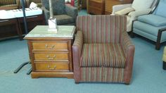 From the World Famous Brown Palace Hotel... Sitting chairs: $35.00 Granite topped night stands only $65.00. We are open to the public Monday thru Saturday 8:30am-5:30pm.