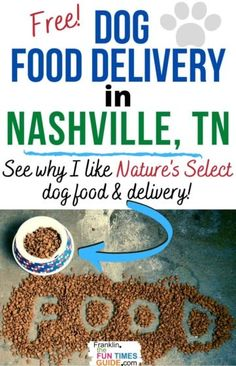 Want all natural dog food delivered for FREE in Middle Tennessee? I love Nature's Select pet food delivery service! Their dog food is made in the USA (Texas) and delivered to me in Nashville. It's great... and my dogs LOVE it! #dogfood #nashville #dogfooddelivery #tennessee