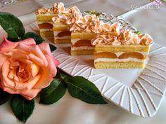 Marhuľové rezy s tvarohovým krémom a marhuľovicou (fotorecept) - Recept Vanilla Cake, Waffles, Cheesecake, Treats, Breakfast, Sweet, Food, Sweet Like Candy, Morning Coffee