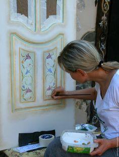 Мастер-класс: роспись двери - Ярмарка Мастеров - ручная работа, handmade
