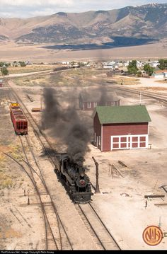 NNRY 40 Nevada Northern Railway Steam 4-6-0 at Ely, Nevada by Nick Hovey